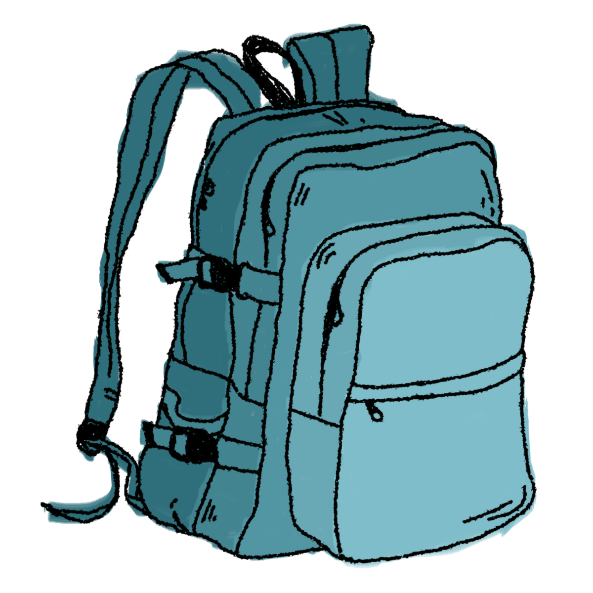 Hiking Backpack Clipart Free Clipart Images Clipartbold - Unpack Backpack, Transparent background PNG HD thumbnail