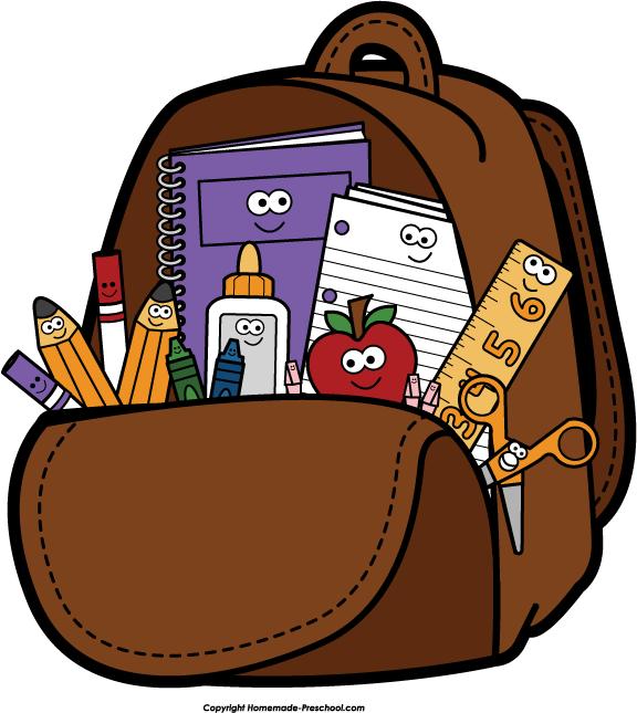 Pin Bag Clipart Kid Backpack #5 - Unpack Backpack, Transparent background PNG HD thumbnail