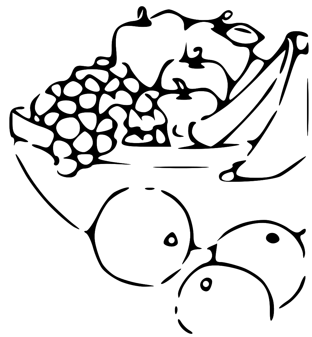 PNG Vegetables And Fruits Black And White