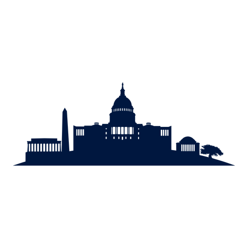 Png Washington Dc - Washington Dc Skyline Cityscape Silhouette Png, Transparent background PNG HD thumbnail