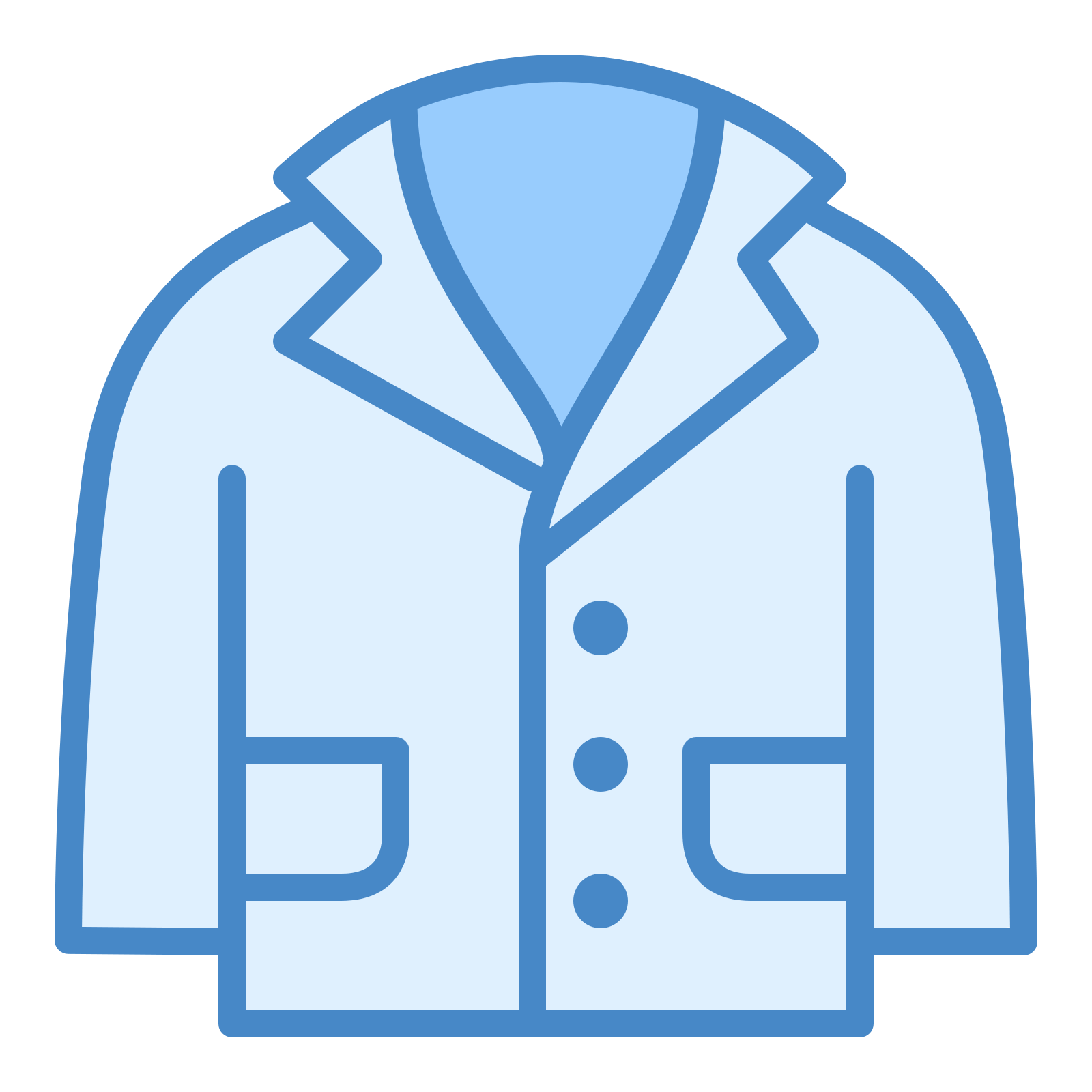 Lab Coat Icon - Wear, Transparent background PNG HD thumbnail