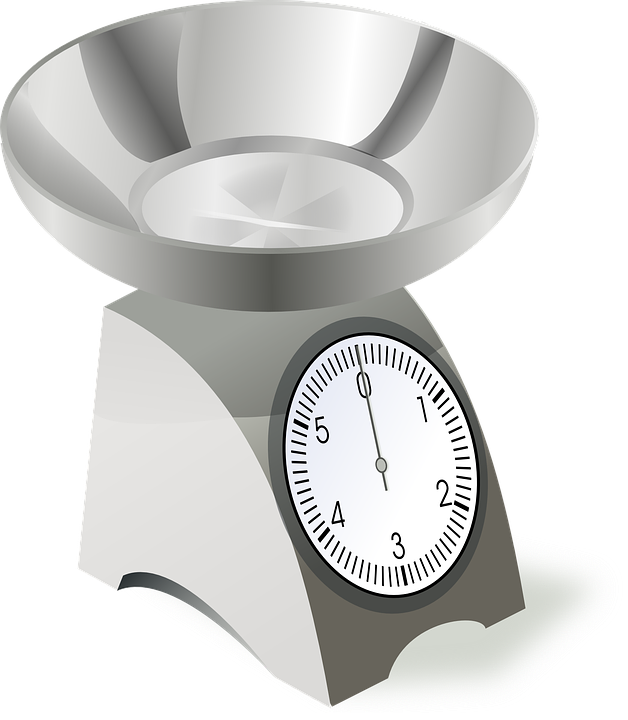 Scale Scales Cooking Food Kitchen Weight Weighing - Weight Scale, Transparent background PNG HD thumbnail