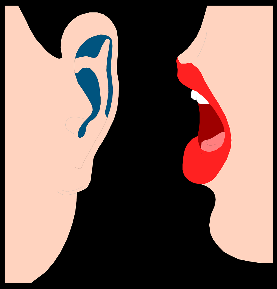 Illustration Of Lips Whispering Into An Ear : Free Stock Photo - Whisper, Transparent background PNG HD thumbnail