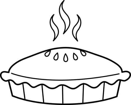 Pie Clipart Black And White - Whole Pie, Transparent background PNG HD thumbnail