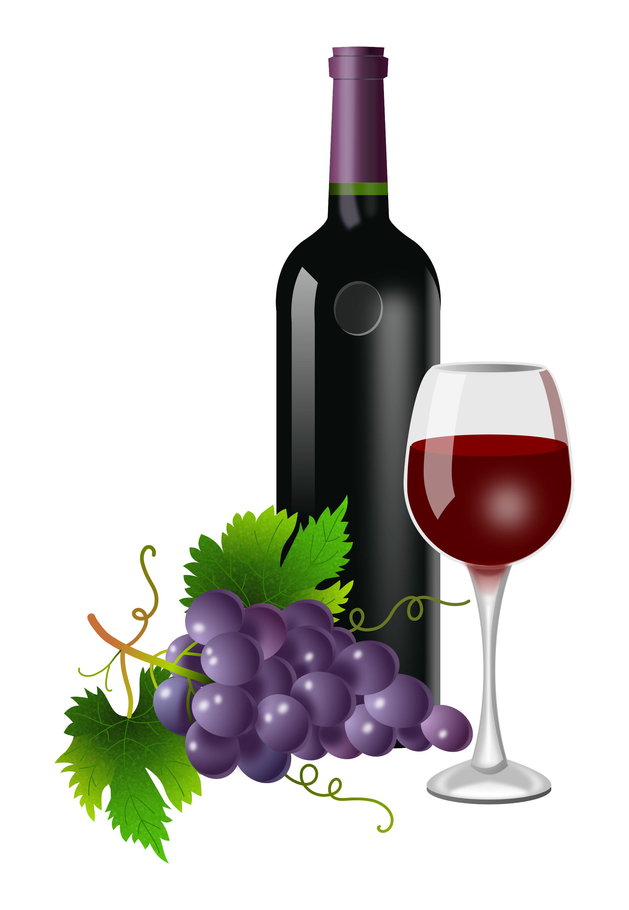 14 - Wine Bottle And Glass, Transparent background PNG HD thumbnail