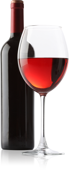 Bottle Of Wine Alongside A Glass Of Wine - Wine Bottle And Glass, Transparent background PNG HD thumbnail