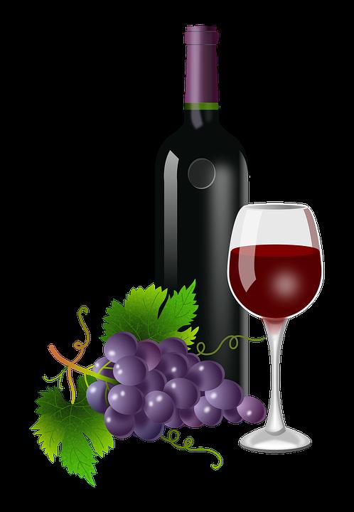 Grapes, Glass, Bottle, Vine, Vineyard, Wine, Plants - Wine Bottle And Glass, Transparent background PNG HD thumbnail