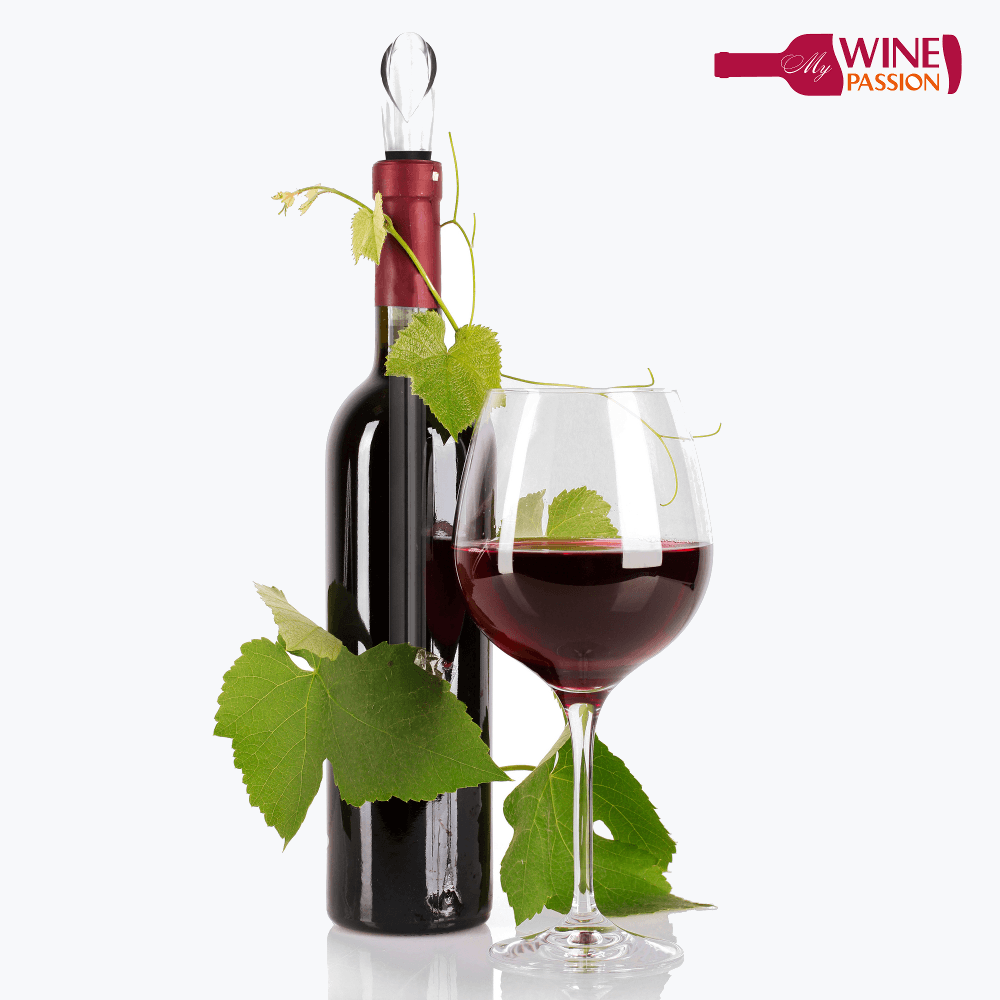 My Wine Passion Is Perfect For Red Wine - Wine Bottle And Glass, Transparent background PNG HD thumbnail