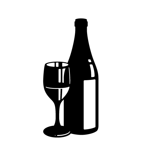 Spirits On Behance - Wine Bottle And Glass, Transparent background PNG HD thumbnail