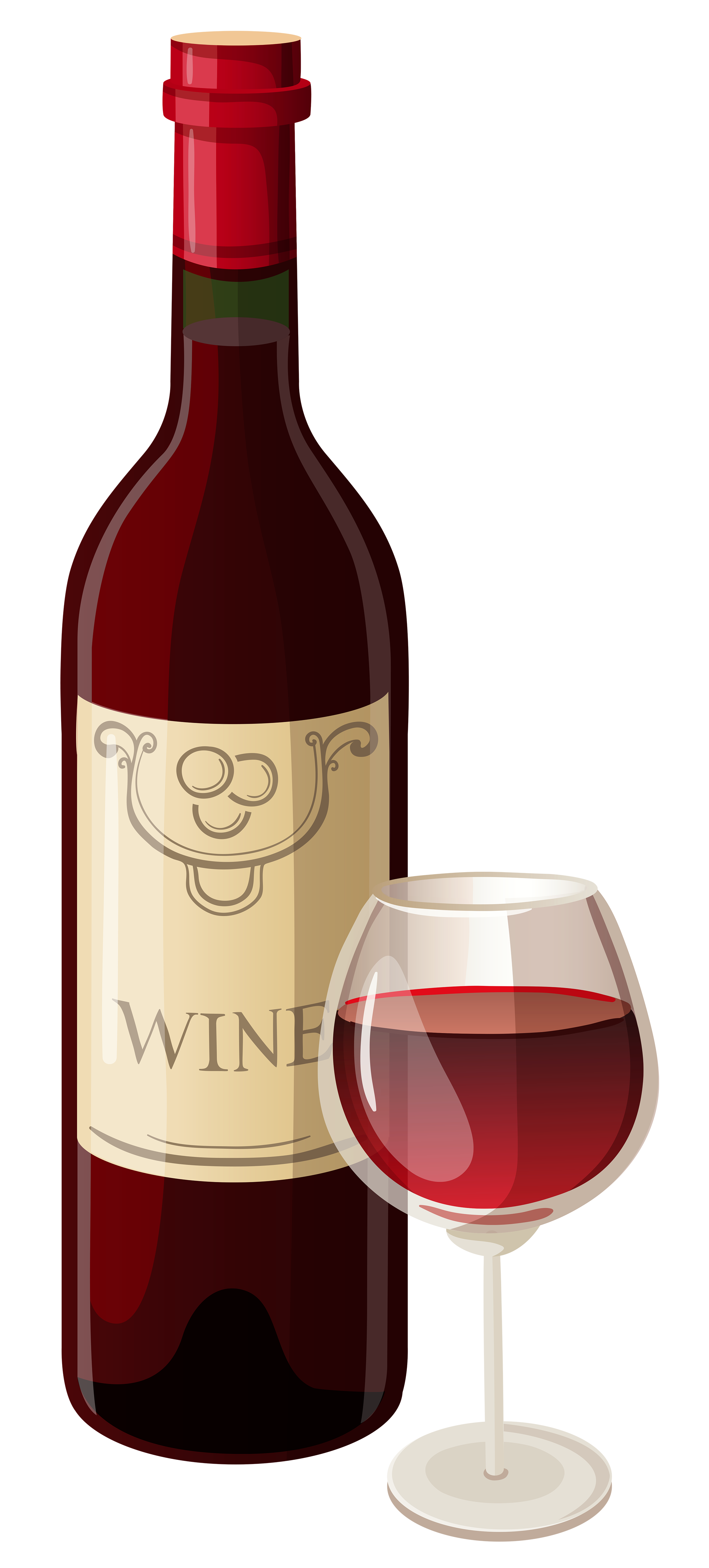 Wine Bottle And Glass Png Vector Clipart - Wine Bottle And Glass, Transparent background PNG HD thumbnail