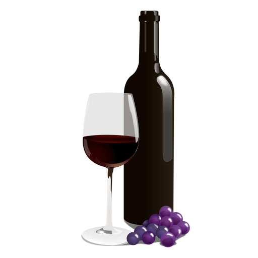 Wine Bottle Glass Png - Wine Bottle And Glass, Transparent background PNG HD thumbnail