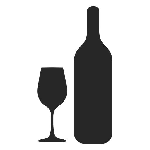 Wine Bottle Glass Silhouette - Wine Bottle And Glass, Transparent background PNG HD thumbnail