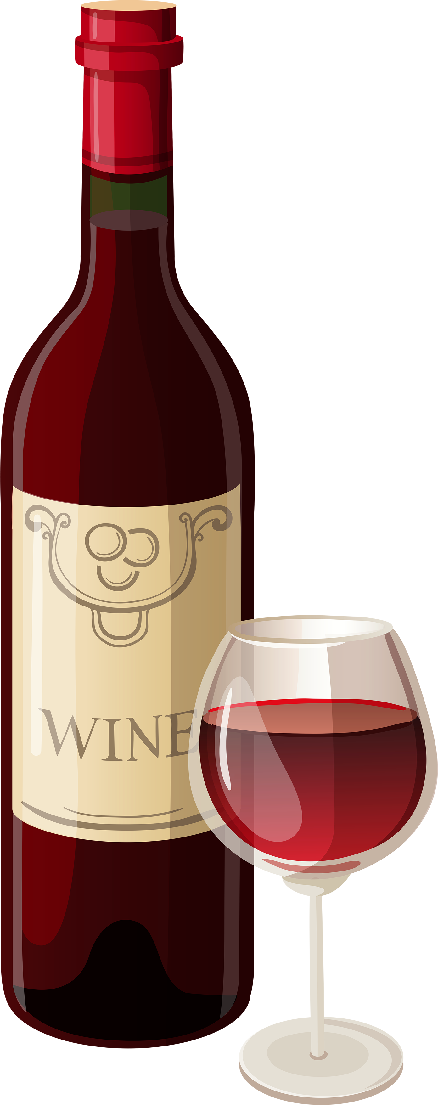 Wine Png Transparent Image - Wine Bottle And Glass, Transparent background PNG HD thumbnail