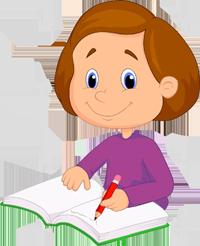PNG Writing Kids
