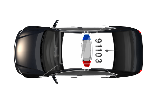 Police Car PNG Top View