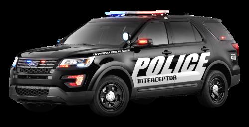 Black Ford Police Interceptor Car PNG Image, Police HD PNG - Free PNG