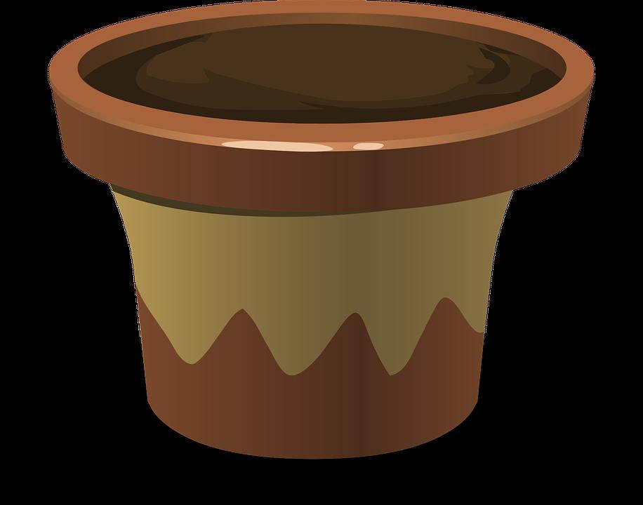 Pot, Soil, Dirt, Gardening, Flowerpot - Pot, Transparent background PNG HD thumbnail
