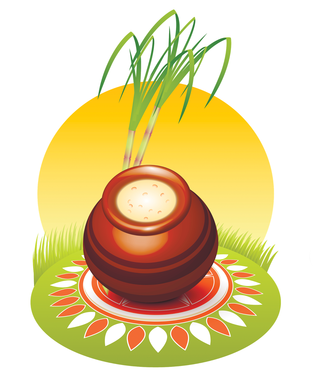 Sankranti Muggula Kundalu (Pots) Png Format In Hd Quality - Pot, Transparent background PNG HD thumbnail