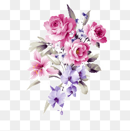 Purple And Pink Flowers PNG