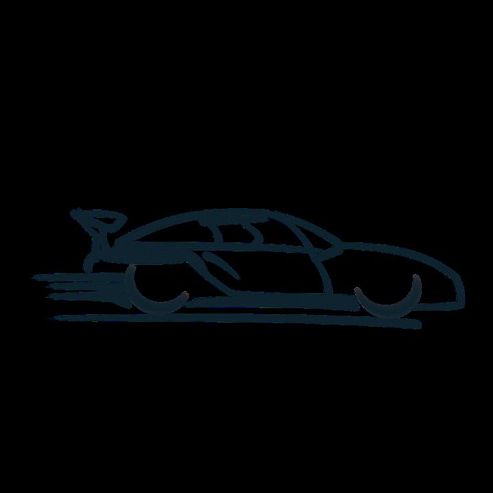 Race Car Logo Symbol Speed Coupe Speedy Car Auto - Car, Transparent background PNG HD thumbnail