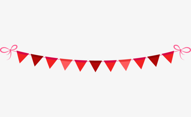 Bunting Vector, Bunting, Red, Joyous Png And Vector - Red Bunting, Transparent background PNG HD thumbnail