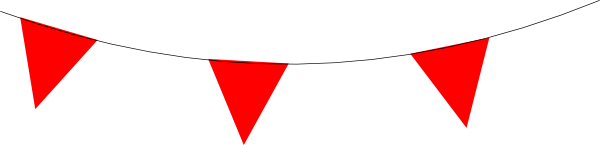 Red And White Bunting Clip Art At Clker Pluspng.com   Vector Clip Art Online, Royalty Free U0026 Public Domain - Red Bunting, Transparent background PNG HD thumbnail