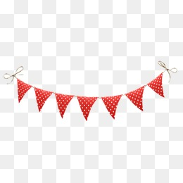 Triangle Bunting, Bunting, Banner, Small Triangular Flags Png Image And Clipart - Red Bunting, Transparent background PNG HD thumbnail