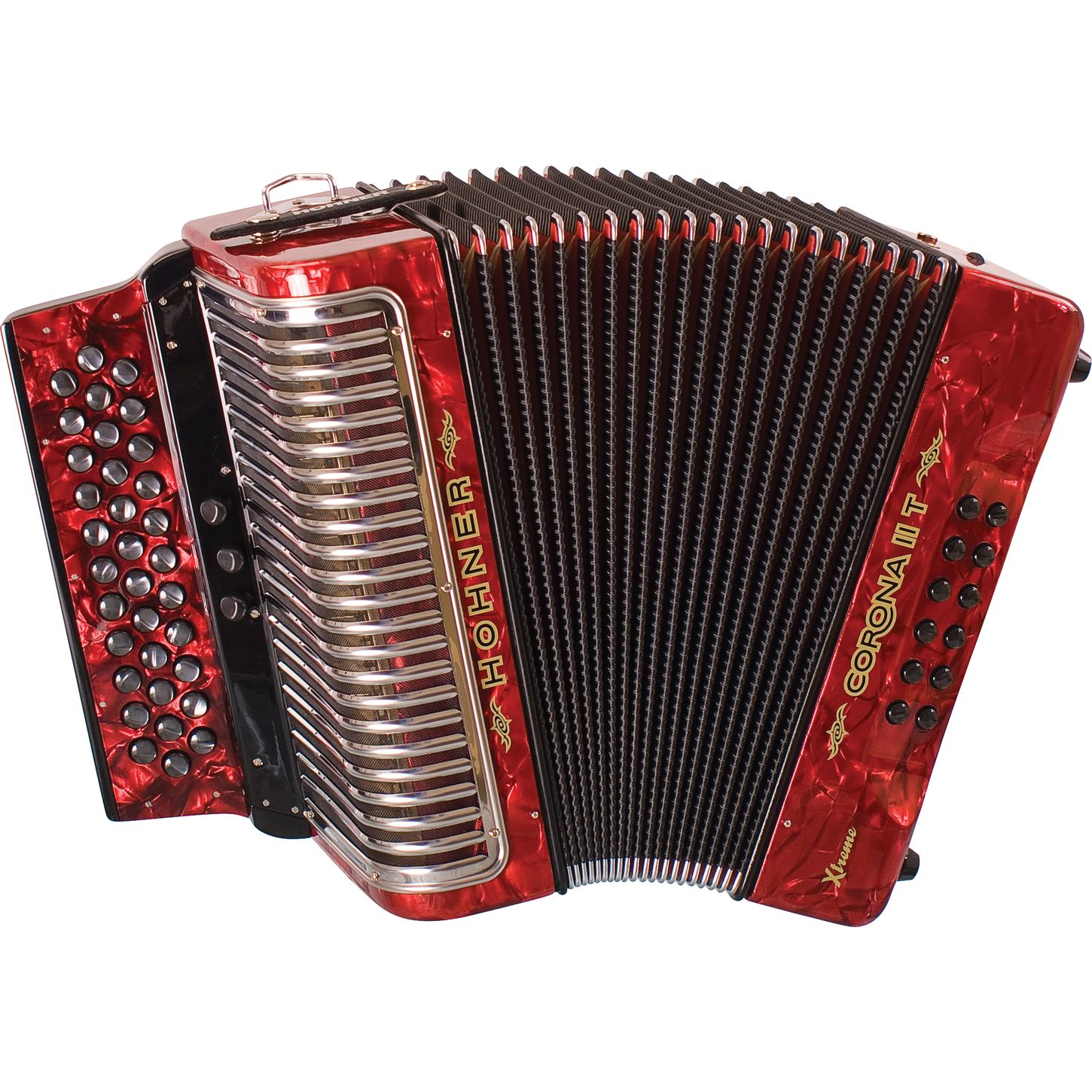 Red Hohner - Accordion, Transparent background PNG HD thumbnail