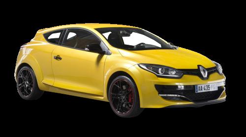 Renault Megane Rs Yellow Car Png Image - Renault, Transparent background PNG HD thumbnail