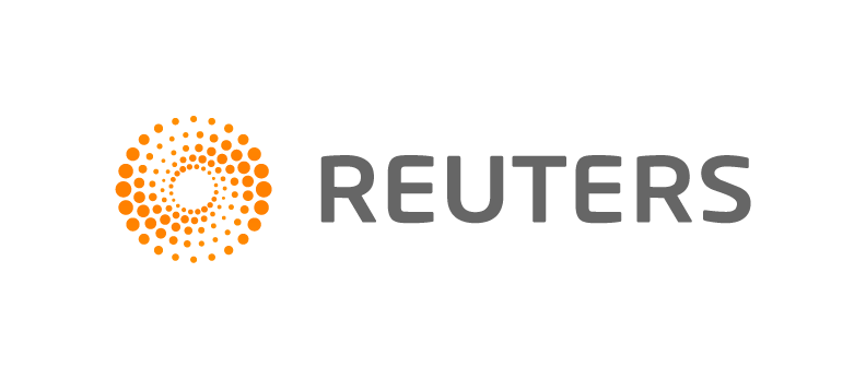 Five Rings With Large Reuters Gray Text - Reuters, Transparent background PNG HD thumbnail