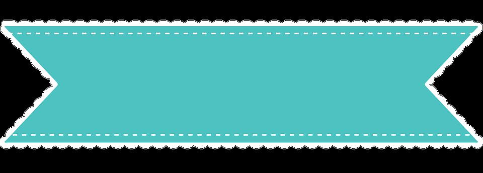 Ribbon Flag Mint Green Stitches Celebration - Ribbon, Transparent background PNG HD thumbnail