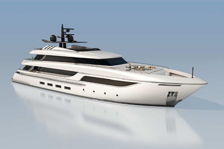 Rodriquez 42 Superyacht - Yacht, Transparent background PNG HD thumbnail