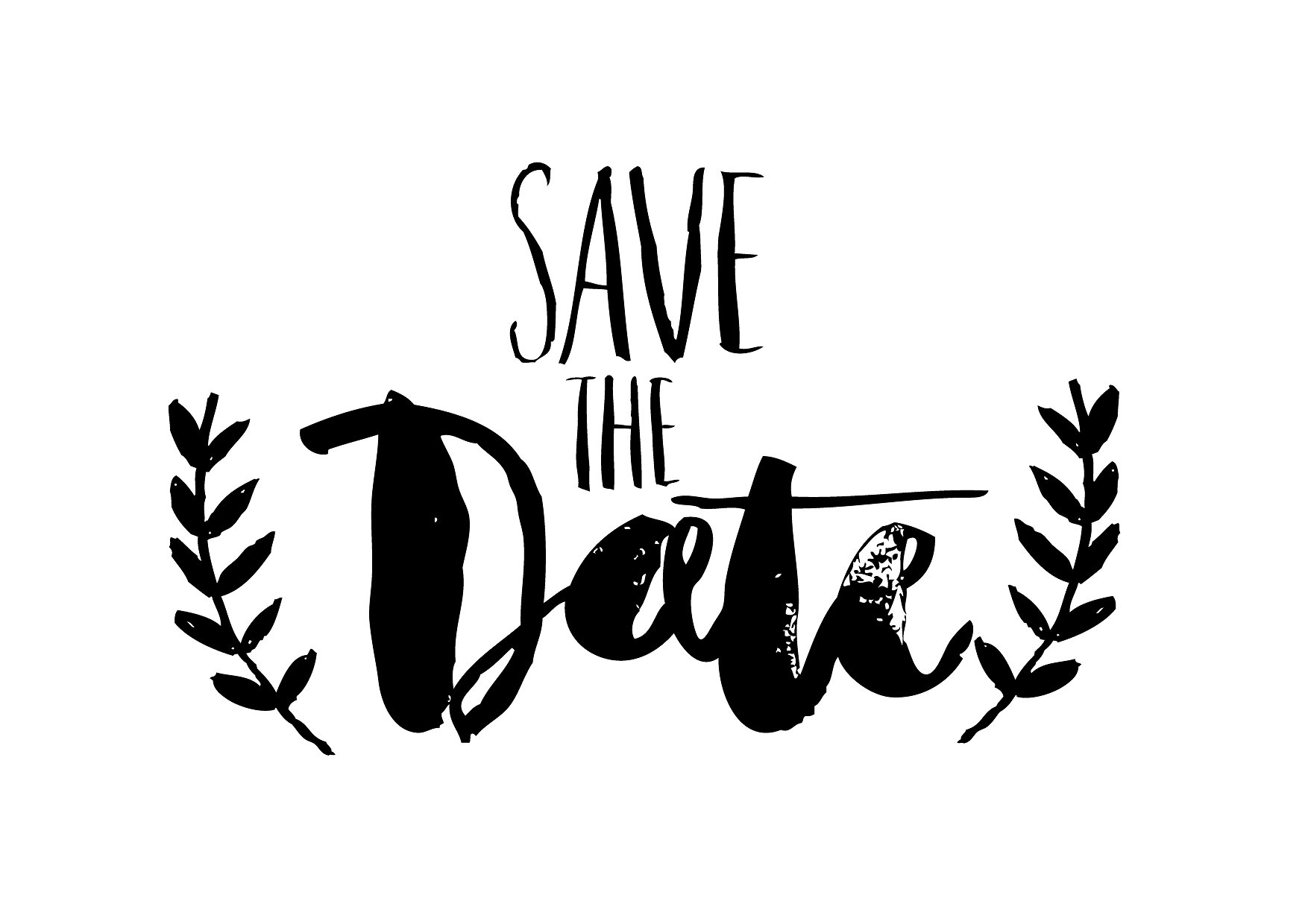Save The Date Png Black And White Hdpng.com 1754 - Save The Date Black And White, Transparent background PNG HD thumbnail