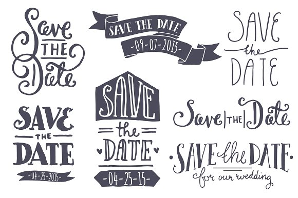 Save The Date Png Black And White Hdpng.com 580 - Save The Date Black And White, Transparent background PNG HD thumbnail