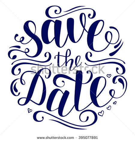 Brush Lettering Invitation To The Wedding In Black And White. Vector Illustration. Save The - Save The Date Black And White, Transparent background PNG HD thumbnail