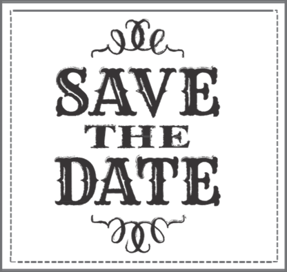Reserve Wine Sale Save The Date Carruth Cellars A San Diego - Save The Date Black And White, Transparent background PNG HD thumbnail