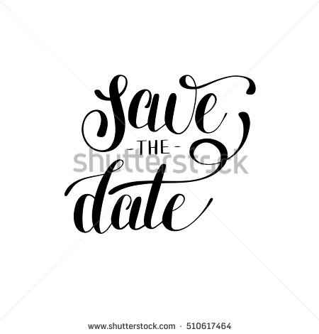 Save The Date Black And White Hand Lettering Inscription Typography Poster, Conceptual Handwritten Phrase, - Save The Date Black And White, Transparent background PNG HD thumbnail