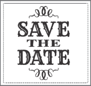 Save The Date Clipart Black And White Pluspng - Save The Date Black And White, Transparent background PNG HD thumbnail