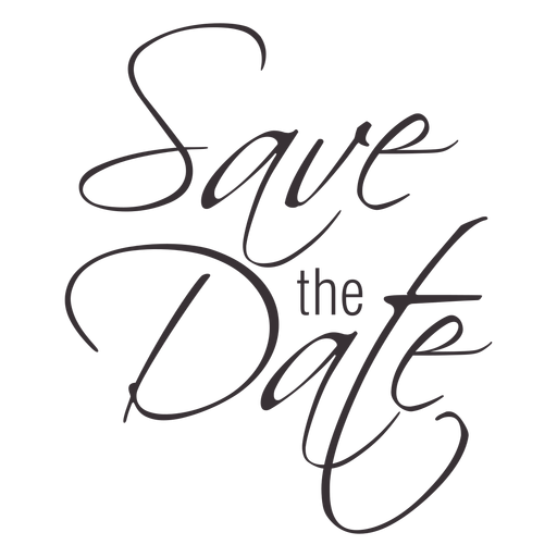 Save The Date Typography 2 Png - Save The Date Black And White, Transparent background PNG HD thumbnail