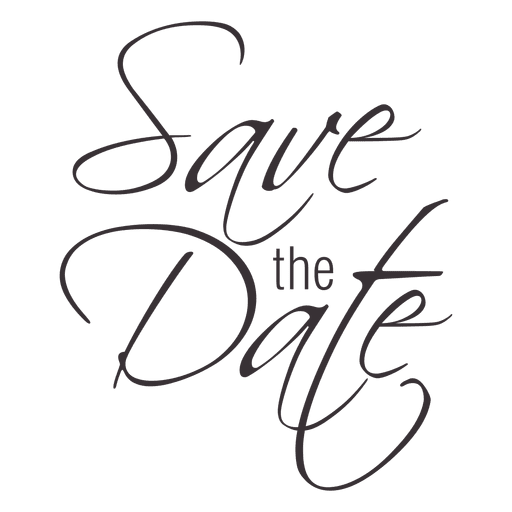 Save The Date PNG HD