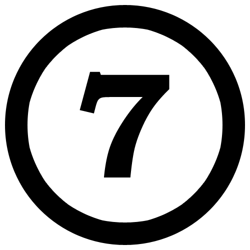 An Interesting Hdpng.com  - Seven Black And White, Transparent background PNG HD thumbnail