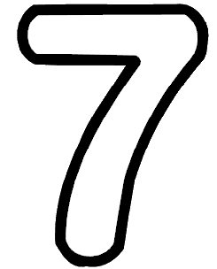 Seven.png - Seven Black And White, Transparent background PNG HD thumbnail