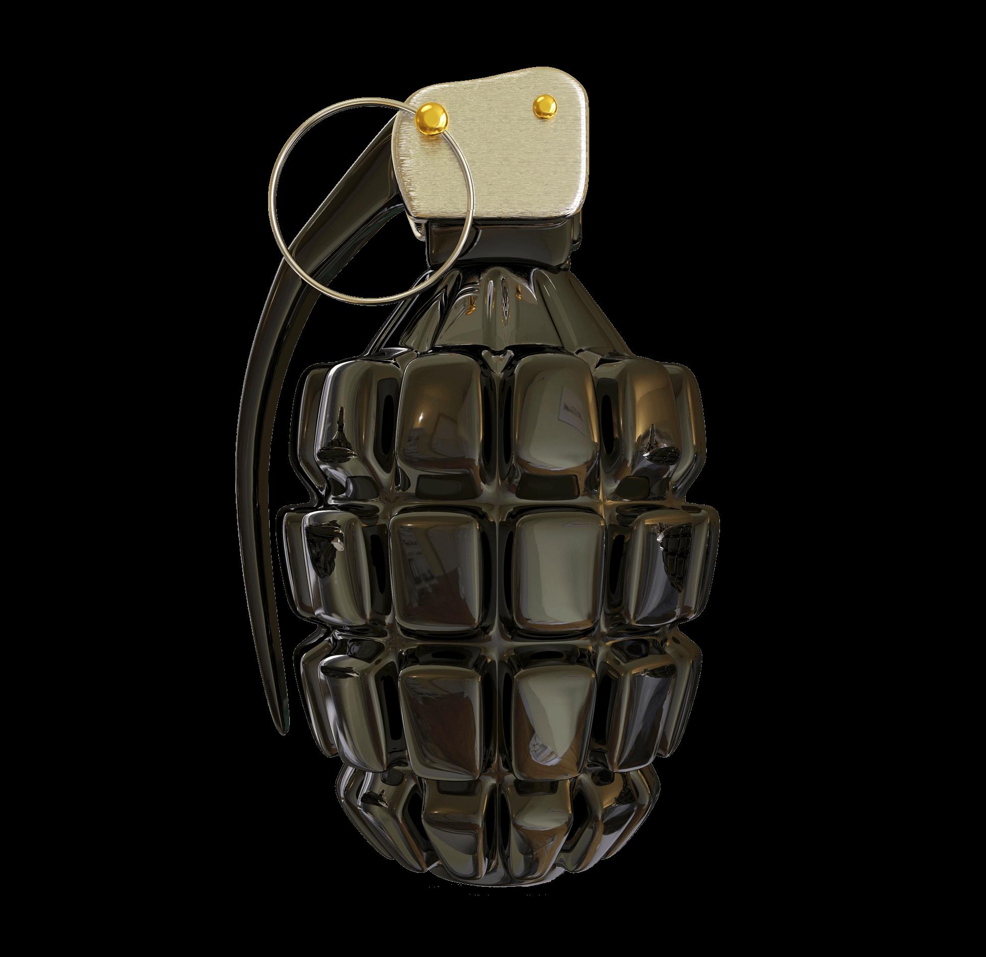 Shiny Grenade - Grenade, Transparent background PNG HD thumbnail