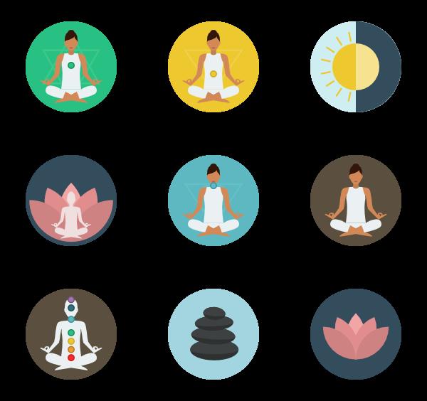 Meditation - Sign Vector, Transparent background PNG HD thumbnail