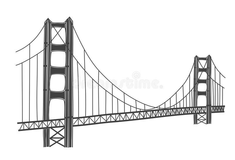 Simple Golden Gate Bridge Png - Download Illustration Of Golden Gate Bridge, San Francisco Stock Illustration   Illustration Of Gate,, Transparent background PNG HD thumbnail