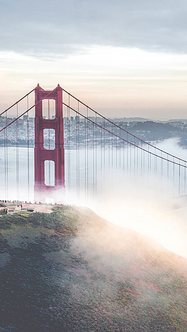 Simple Golden Gate Bridge Png - Golden Gate Bridge, Transparent background PNG HD thumbnail
