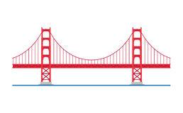 Simple Golden Gate Bridge Png - Golden Gate Bridge, San Francisco, Usa. Vector Illustration. Stock Photos, Transparent background PNG HD thumbnail