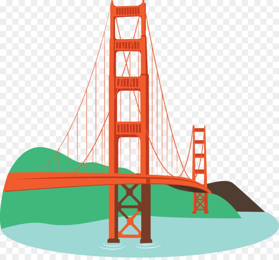 Simple Golden Gate Bridge Png - Golden Gate Bridge Sausalito Oakland San Francisco Bay San Francisco Cable Car System   Bridge Cartoon Cliparts, Transparent background PNG HD thumbnail