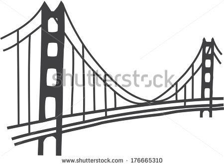 Simple Golden Gate Bridge Png - Golden Gate Bridge Vector, Transparent background PNG HD thumbnail