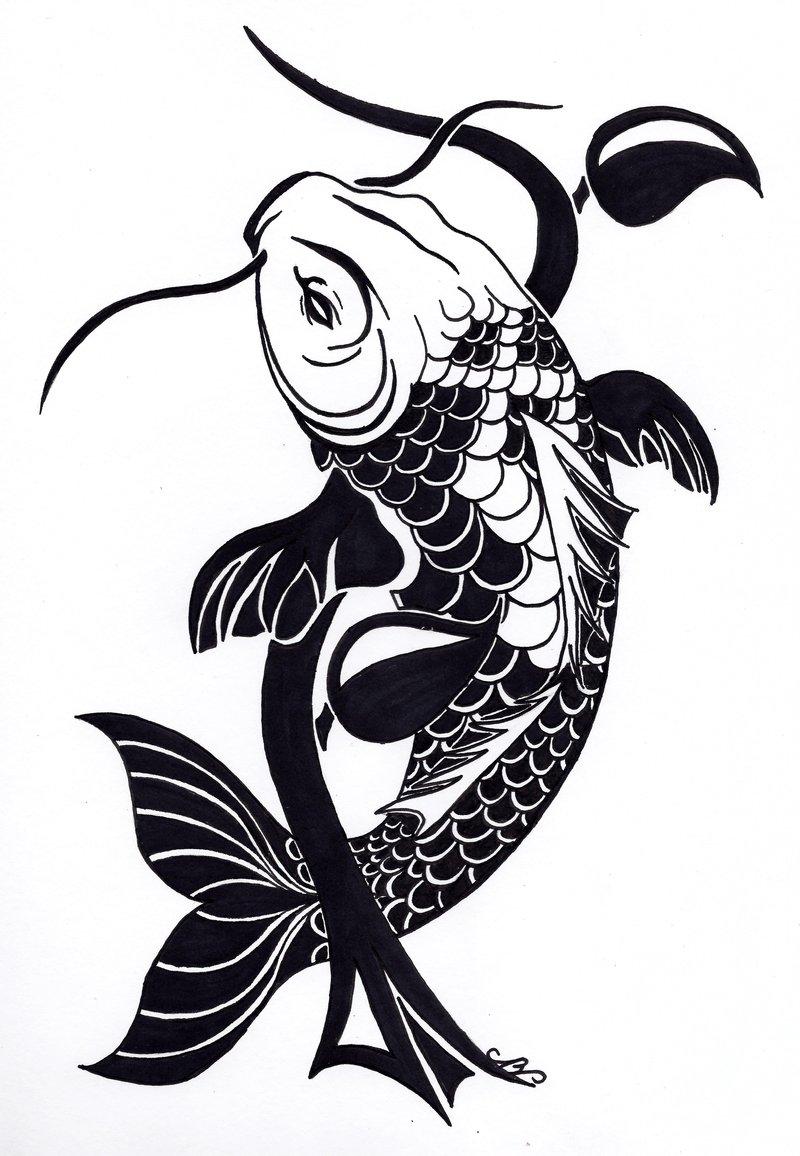 . Hdpng.com Simple Koi Fish Tattoo 12 Tribal Koi Fish Tattoo Design By Nikolai Bartolf.jpg Hdpng.com  - Fish Tattoos, Transparent background PNG HD thumbnail
